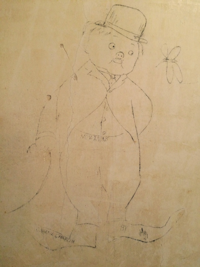 Charlie Chaplin drawing dated 1915.