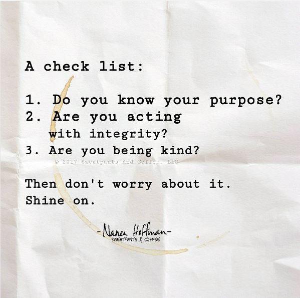 A check list